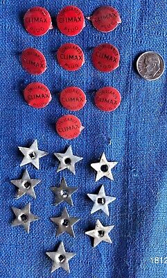Lot of 20 Vintage Antique Lorillard Climax Plug Red Tobacco Tag and Star 1930s