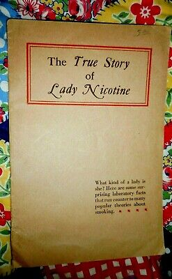 Vintage Cigar Advertising Booklet THE TRUE STORY OF LADY NICOTINE Carl Henry Inc