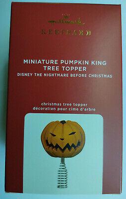 2020 Nightmare Before Christmas Pumpkin King Tree Topper Mini HALLMARK ORNAMENT
