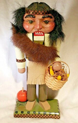 Vintage BRN Nutcracker Native Culture Aboriginal Thanksgiving