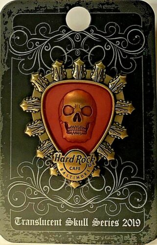 Hard Rock Cafe Baltimore Pin Translucent Skull Pick Series 2019 LE New # 509701