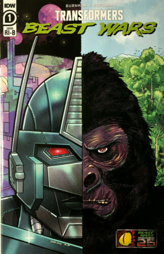 Transformers Beast Wars #1 RI-B Brokenshire 1:25 Exclusive Variant  IDW 2021  NM