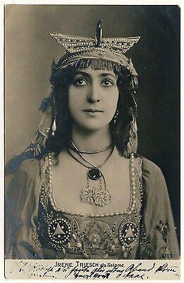 IRENE TRIESCH als Salome / Österreichische Schauspielerin * Foto-AK um 1905