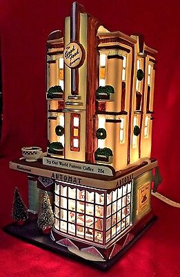 Clark Street Automat Dept 56 Christmas in the City 58954 retired snow cafe