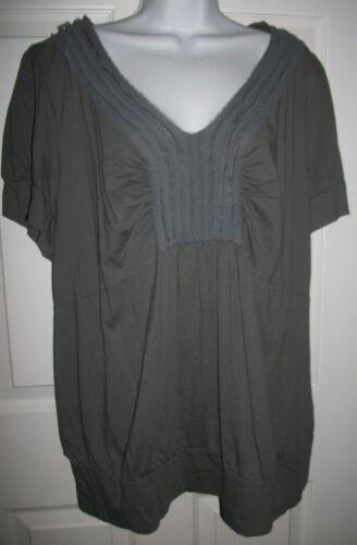 Lane Bryant Women's Gray Sequin Shirt Top Size 18/20
