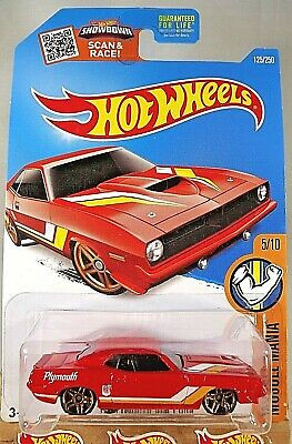 2016 Hot Wheels #125 Muscle Mania 5/10 '70 PLYMOUTH AAR CUDA Red wGold Pr5 Spoke