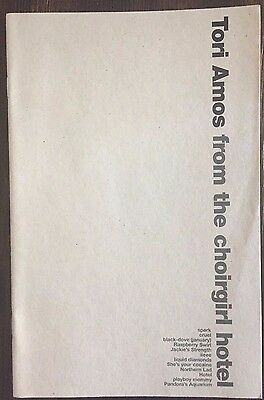 Tori Amos From The Choirgirl Hotel Promotional Song Lyrics Booklet 1998 RARE