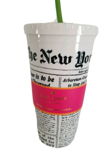 KATE SPADE Insulated Cup Tumbler, N.Y Times Newspaper Patter