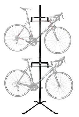 2 Bike Bicycle Vertical Hanger Parking Rack Gravity Floor St