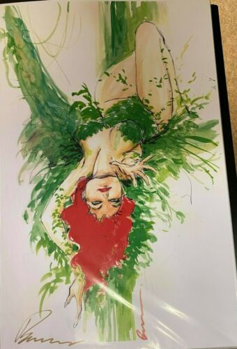 SEXY POISON IVY HANGING BUZZ SIGNED PRINT 11 x 17 #oa-435