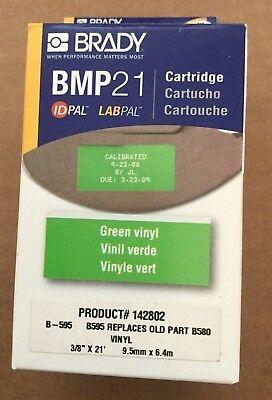 Brady Label Maker Cartridge - Bmp 21 - Green Vinyl - 38 X 21 142802