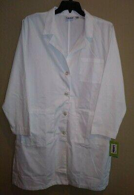 NWT Landau 3 Pocket Lab Coat Jacket 3155 White Womens size (3155 Landau Womens Lab Coats)