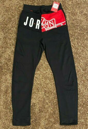 Jordan Boys Jumpman Athletic Pants Black 955357 Size L XL