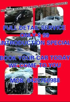 NU-SHINE MOBILE CAR DETAILER WE COME TO YOU Huntingdale Monash Area Preview