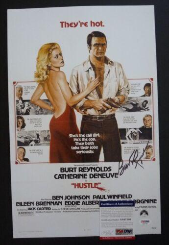 Burt Reynolds The Hustle Signed Autographed 11x17 Movie Photo PSA Certified
