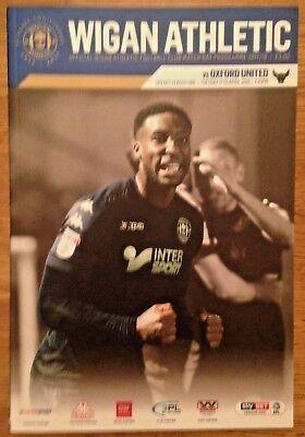 Wigan Athletic v Oxford United  2017-18 Season - League 1 Programme - Mint