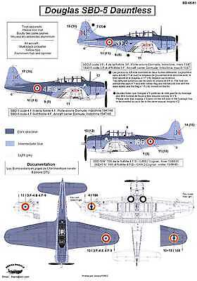 Berna Decals 1/48 DOUGLAS SBD-5 DAUNTLESS French Navy in Indochina, used for sale  USA