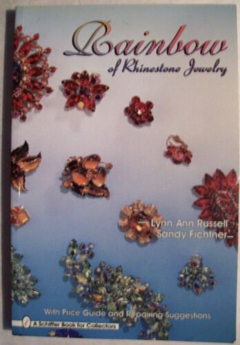 RHINESTONE $$ JEWELRY PRICE GUIDE COLLECTOR BOOK color and designs