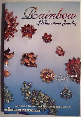 RHINESTONE $$ JEWELRY PRICE GUIDE COLLECTOR BOOK color and designs