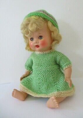Vintage 1950's Pedigree Hard Plastic 10 inch Doll pretty fresh colouring VGC