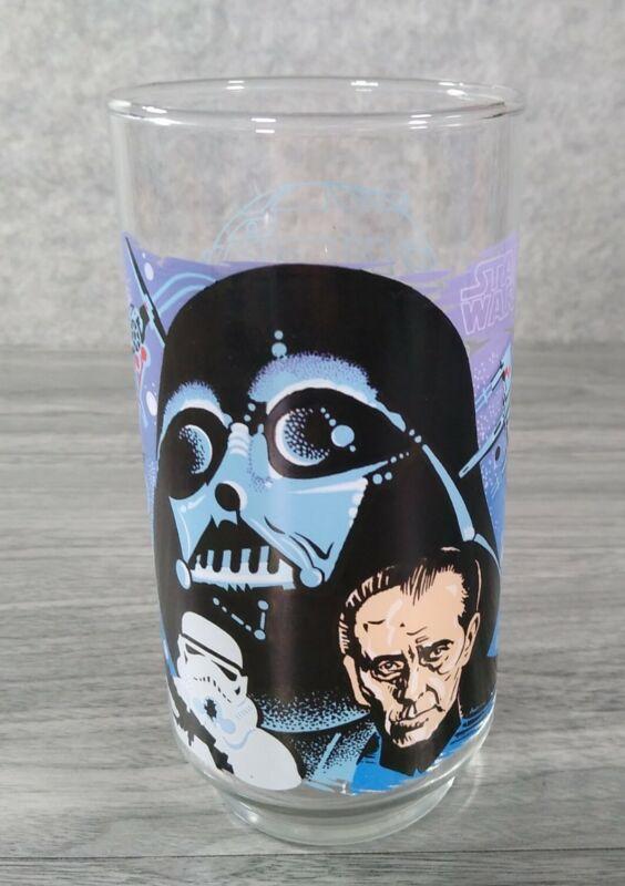 1977 Burger King Coca Cola Star Wars Darth Vader Glass - Near Mint