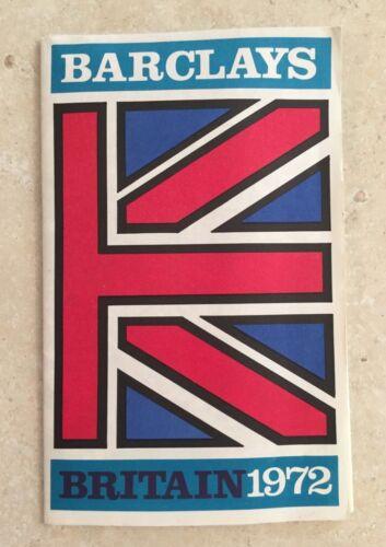 Vintage 1972 Barclays Britain Brochure Guide Banking