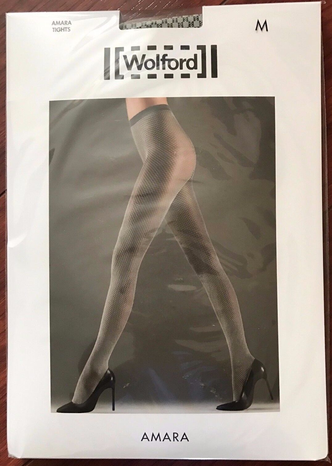 Wolford Womens Amara Tights Tint Black Size Medium Style ...