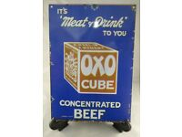 """/""""OXO CUBE READY AND RELIABLE/"""" Man Cave Novelty Gift Bar Metal Plaque//Sign Pub"""