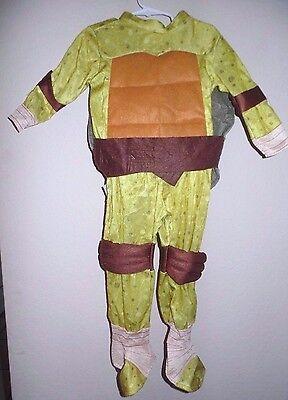 boys RUBIES NINJA TURTLE HALLOWEEN COSTUME size 3/4T REMOVABLE SHELL 2 PC CUTE!!