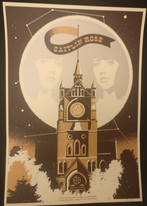 CAITLIN ROSE signed and numbered LTD edition London Union Chapel gig print
