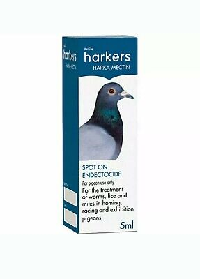 Harkers Harka Mectin Bird Parasite Mite Lice Worm Treatment for Pigeons 5ml