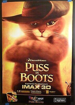 Puss in Boots (2011) Original 27x40 Movie DS Poster (Antonio Banderas)