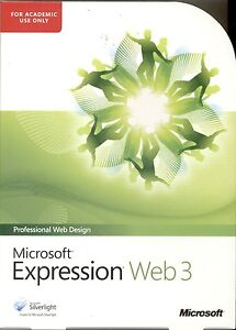 Microsoft Expression Web 3 Academic Box