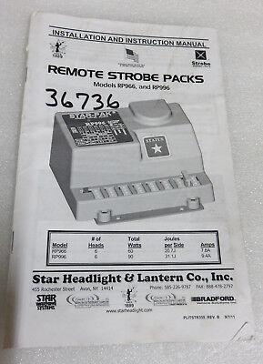 Star Headlight Remote Strobe Packsrp 966 996 Installation Instruction Manual Oem