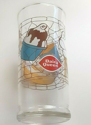 Dairy Queen 16 Oz Glass  Vintage 1988