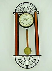 Howard Miller Devahn Wall Clock 625-241 Antique Bronze Finish Wrought Iron Wood