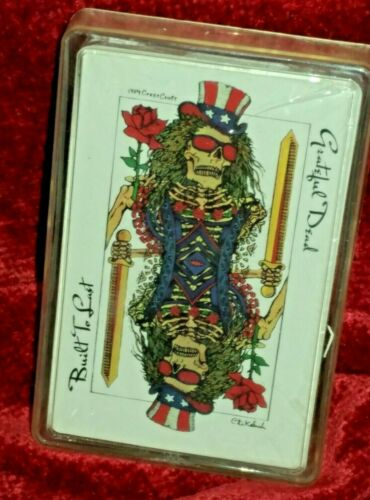 New/sealed Vintage ~ Grateful Dead Playing Cards ~ Crest Craft ~ Arista ~ 1989