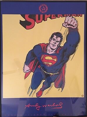 "ANDY WARHOL ORIGINAL LITHOGRAPH PRINT POSTER ""SUPERMAN"""