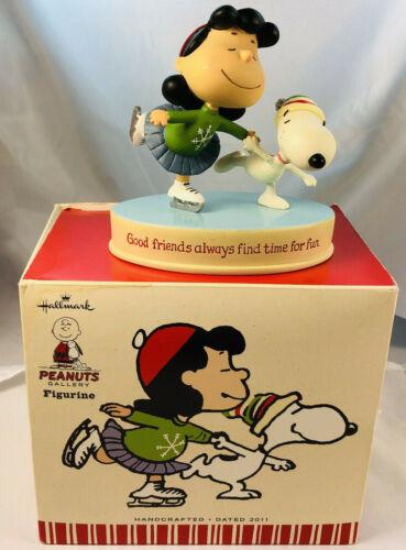 Hallmark Peanuts Figurine Lucy Snoopy Ice Skating  Good Friends Always Find 2011