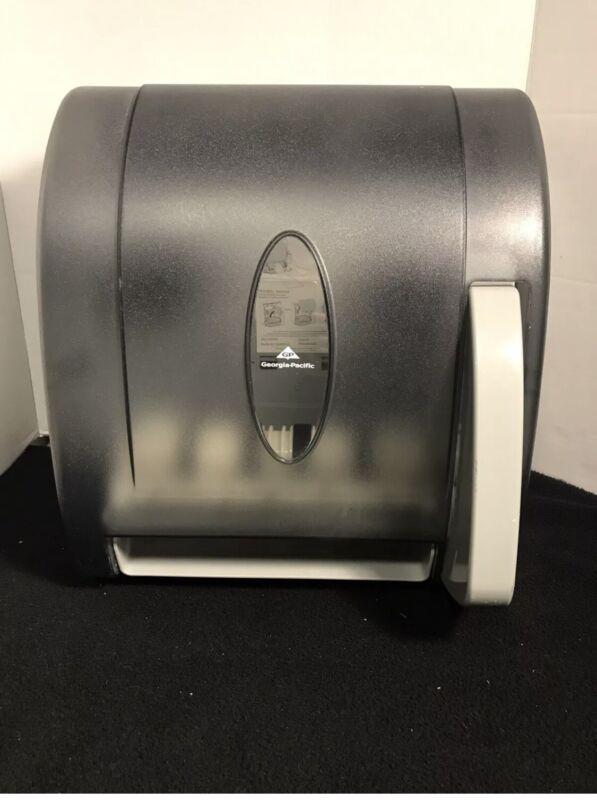 Georgia Pacific Hygienic Push-Paddle Roll Towel Dispenser Translucent Smoke