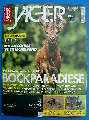 Jäger - Magazin Nr. 6  Juni 2018  ungelesen, Top Zustand