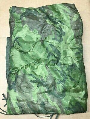US Military Woodland Camo Poncho Liner WOOBIE Blanket USGI MILITARY SURPLUS GC Woodland Camo Poncho Liner