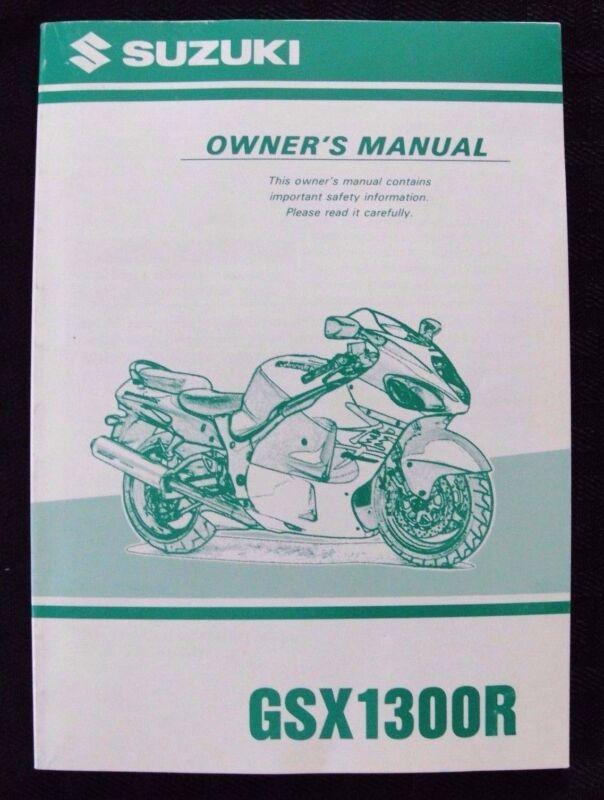 GENUINE 1999 SUZUKI 1300 GSX1300R  MOTORCYCLE OWNER