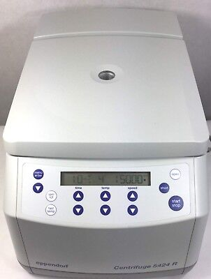 Eppendorf 5424r Refrigerated Centrifuge W Fa-45-24-11 Rotor Lid Warranty