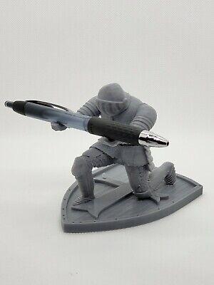3d Printed Medieval Knight In Armor Desk Pen Holder - Custom Office Decor
