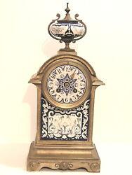 ANTIQUE SIGNED BRONZE MANTEL CLOCK 'BARRARD AND VIGNON' PARIS