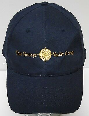 TOM GEORGE YACHT GROUP TGYG Charter Boat Advertising Logo ADJUSTABLE HAT CAP