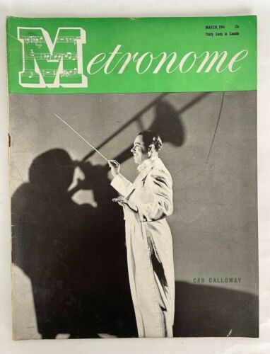 Metronome Magazine March 1944 Cab Calloway