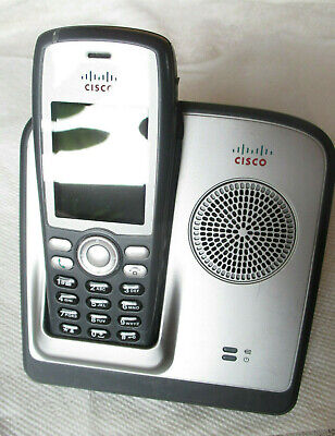 Cisco 7926G Wireless IP Phone With Battery. # 74-7643-02. w/ Desktop Charger Desktop Wireless Ip Phone