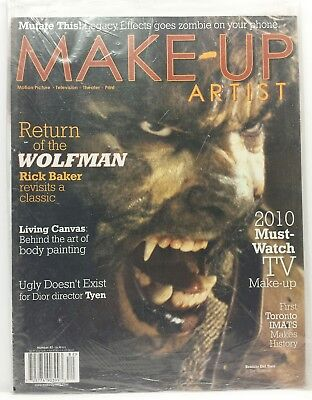 Wolfman Make Up (Make-Up Artist Motion Picture Magazine Issue 82 Wolfman New And Sealed)